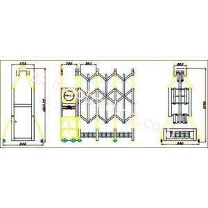 Dari Aluminium Retractable Electronid Folding Gate Benteng-1B 2