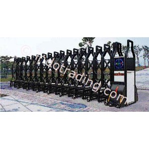 Dari Aluminium Retractable Electronid Folding Gate Benteng-1B 0